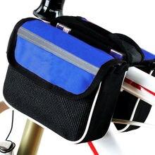 Велосипедная сумка передняя для горного велосипеда на верхнюю