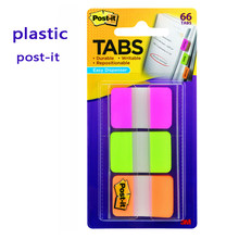 Post it Plastic Durable Index Label Tough Enough Won't Wrinkle Filing Category Tag Sticky notes 66 pages per pack 3M Post-it