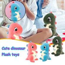 Kawaii dinossauro pelúcia boneca brinquedo huggable rosa/azul recheado dinossauro brinquedo crianças huggable animais brinquedo de pelúcia crianças presentes