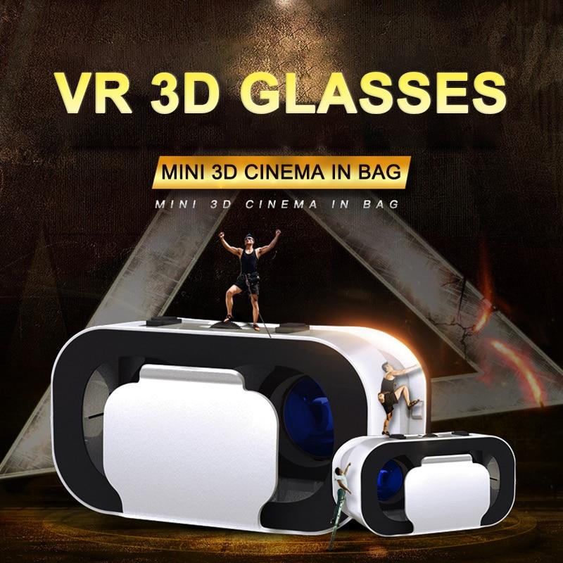 3D Cardboard Helmet Virtual Reality VR Glasses Headset Stereo VR for 4-6inch Smart Mobile Phone