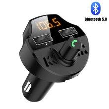 Bluetooth Handsfree Fm-zender Dual USB Car Charger Voor Smart Apparaat Muziekspeler Auto Accessoires Ondersteuning Voice Navigatie