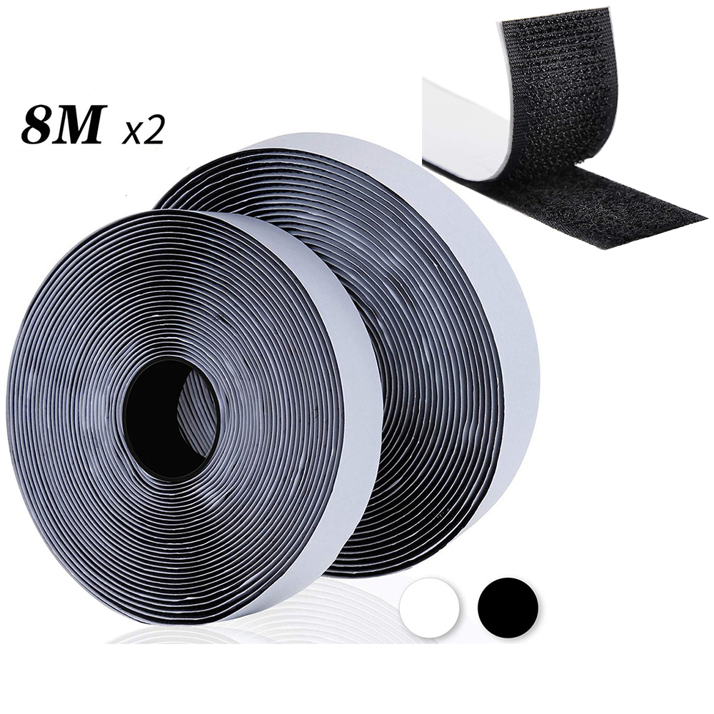 100mm×1m Hook Loop Tape Sewing Sticker Sticky fastener DIY Without Back Glue