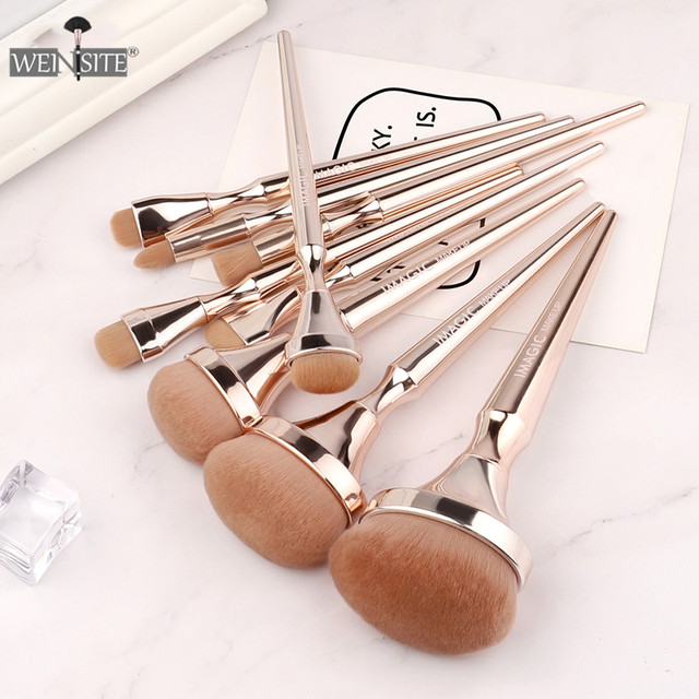 9PCS/set Professional Makeup Brushes Set Eye Shadow Eyeliner Eyelash Eyebrow Powder Brushes For Makeup Foundation Brushes Set 3