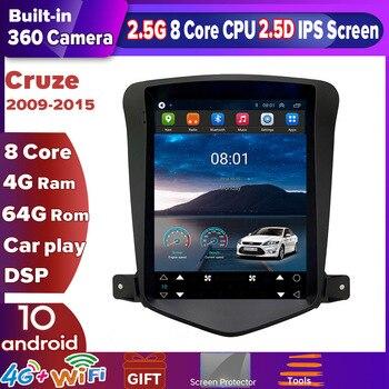 Автомобильный мультимедийный плеер ZOYOSKII, мультимедийный проигрыватель с IPS экраном 10,4 дюйма, под управлением Android, с gps, радио, для Chevrolet Cruze ...