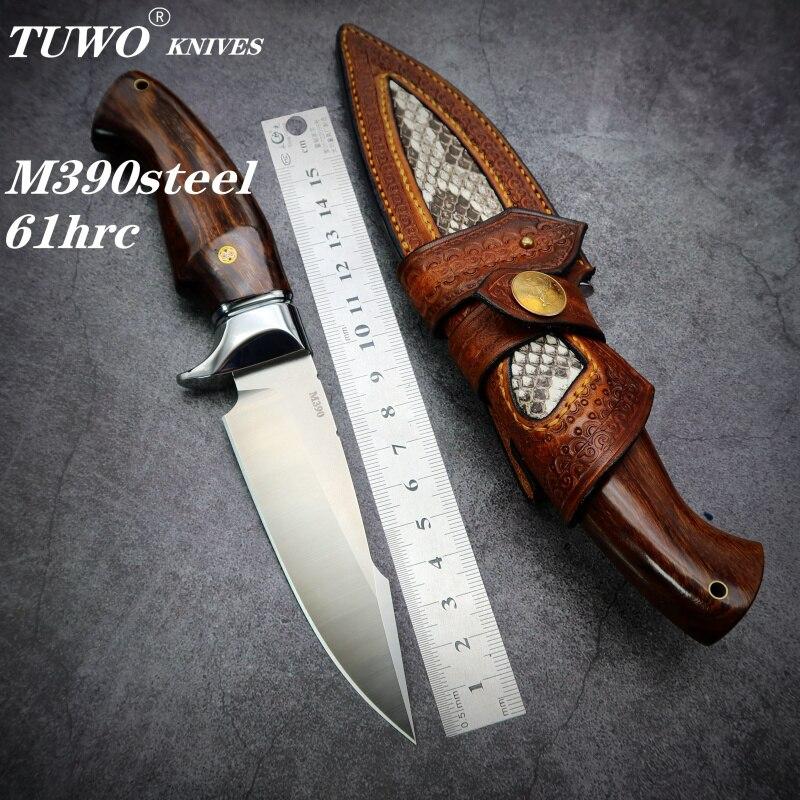 TUWO ножи M390 порошок сталь охотничий нож сильный открытый прямой нож высокая твердость походный ручной нож|Ножи|   | АлиЭкспресс