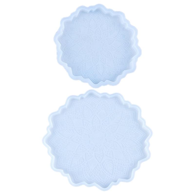 С украшением в виде кристаллов эпоксидная смола, форма подсолнечника Coaster силиконовая форма «сделай сам» ремесла чашка коврик слесарный