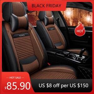 KADULEE flax car seat covers For Hyundai IX35 IX25 Sonata Santafe Tucson ELANTRA Accent i20 i30 i40 ix55 automobiles accessories
