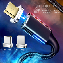GETIHU 2 м Магнитный кабель для iPhone XS MAX XR X 8 7 6 S Быстрая зарядка 3,0 магнит Тип C мобильный телефон Быстрая зарядка Micro USB шнур