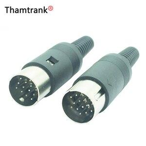 5 sztuk/partia Din złącze 13 Pin DIN wtyk męski Audio AV złącze 13 P DIN gniazdo wtykowe z uchwytem sprężynowym złącze drutu