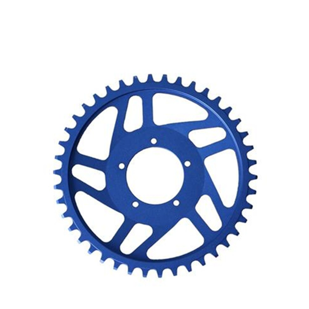 Free Shipping New Aluminum Narrow Wide 42T Chainring For Bafang BBS01/02 Mid Drive Motor Kit