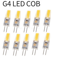 10x Dimmable Mini G4 LED COB Lamp 6W Bulb AC DC 12V 220V Candle Silicone Lights Replace 30W 40W Halogen for Chandelier Spotlight