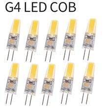 10x pode ser escurecido mini g4 led cob lâmpada 6w lâmpada ac dc 12v 220v vela luzes de silicone substituir 30w 40w halogênio para lustre holofotes