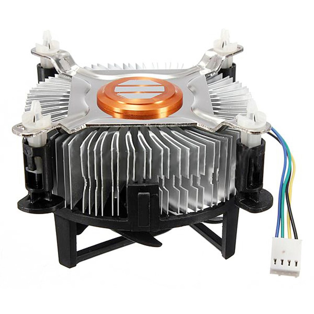 Newest High Quality Aluminum Material <font><b>CPU</b></font> Cooling <font><b>Fan</b></font> Cooler For Computer PC Quiet Silent Cooling <font><b>Fan</b></font> For <font><b>775</b></font>/1155/1156 image