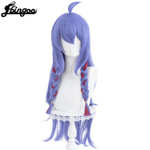 Braided Wigs Synthetic-Hair Kindred Loose Purple Heat-Resistant Straight Wave Ebingoo