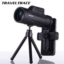 10X42 HD Portable Monocular Mobile Phone Telescope with Phone Holder Night Vision Zoom Great Military Professional Hunting