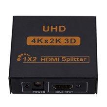цена на 3D 4K*2K Full HD 1080p 1X4 HDMI Splitter Adapter 4 Ports Hub Repeater Amplify Converter for HDTV Xbox PS3 PS4 Multimedia