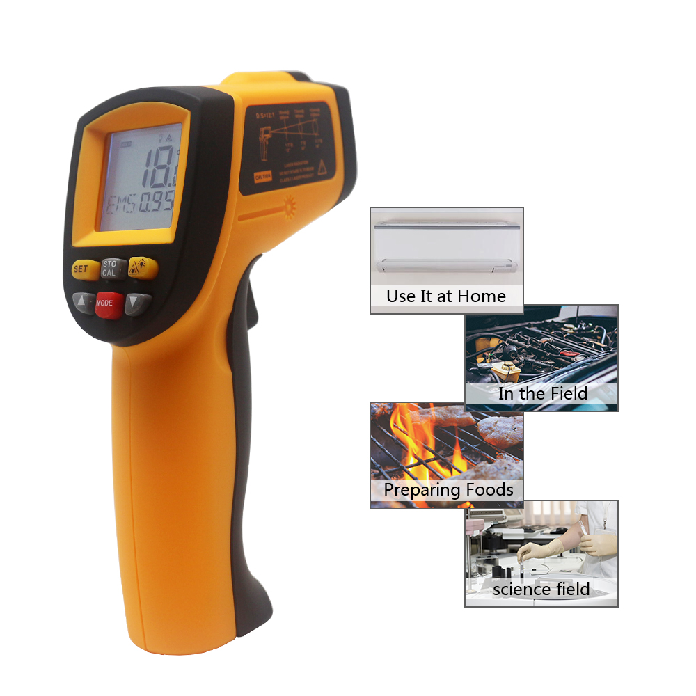 Image 5 - Digital Infrared Thermometer Red Laser Temperature Meter Detector