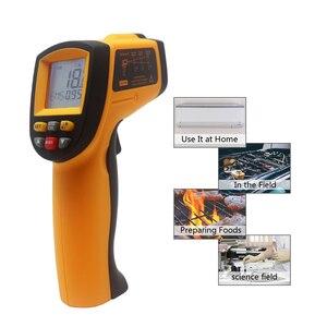 Image 5 - Digital Infrared Thermometer Red Laser Temperature Meter Detector Non Contact IR Pyrometer LCD Temperature Meter Gun Point