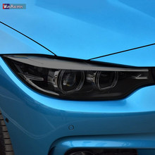 2 шт., Прозрачная Черная защитная пленка для автомобильных фар BMW 4 серии F32 F33 F36