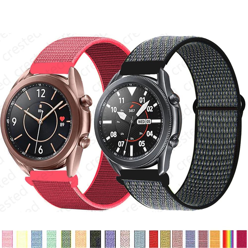 Ремешок 20/22 мм для Galaxy Watch 3/46 мм/42 мм/active 2, нейлоновый спортивный браслет для Samsung Gear S3 Frontier Huawei watch GT 2 41 45 мм