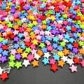 100 шт. 9 мм акриловые бусины россыпью в форме звезды радужного цвета бусины для изготовления ювелирных изделий своими руками браслетов ожере...