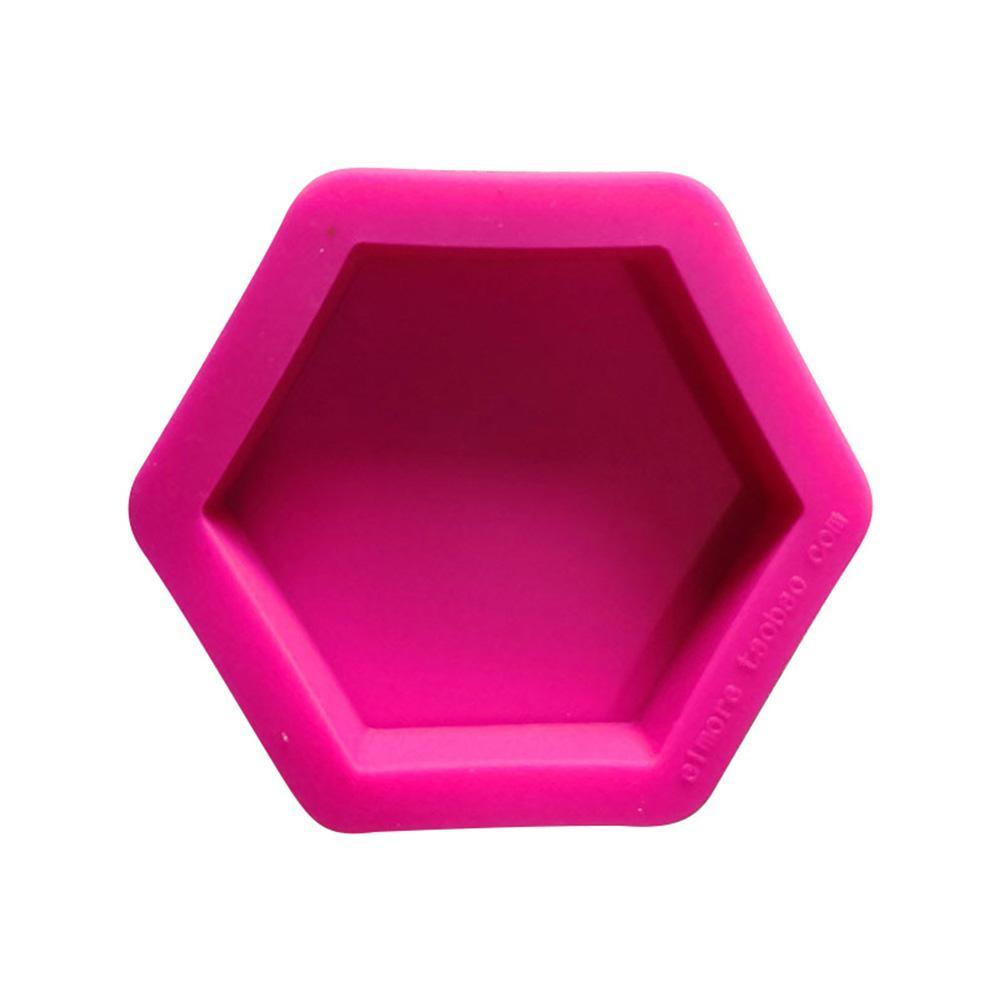 DIY Silicone Mold Concrete Tray Hexagon Plate Aromatherapy Clay Cement Pot Base Diy Gypsum Crafts Coasters Candlestick Mold