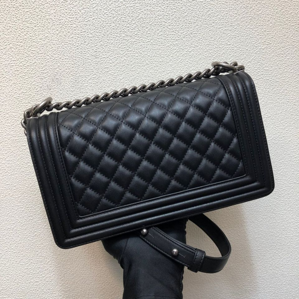 2019newLe Boy Bag Women Real Leather Caviar Lambskin Handbags Top Quality Designer Fashion Crossbody Messenger Chain Bags