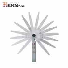 100mm długość Metric Feeler Gauge 17 Blade wypełniacz do szczelin 0.02-1.00mm pomiar grubości narzędzie do projektowania