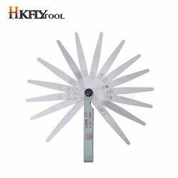 100mm Length Metric Feeler Gauge 17 Blade Gap Filler 0.02-1.00mm Thickness Measurement Layout Tool