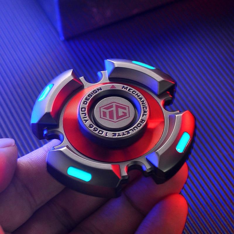 Metal Fidget Spinners Toys R188 Adults Senior Gyro Bearing Relieve-Stress Luminous img3