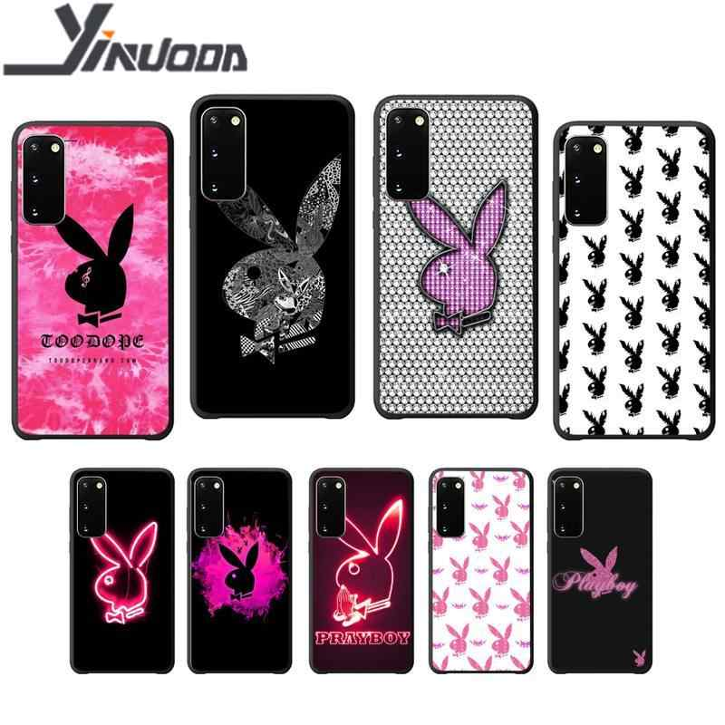 Motirunner Playboy Luxury phone case coque for Samsung galaxy S 7 8 9 10 20 Plus 20 Ultra Note8 9 10 silicone cases coque