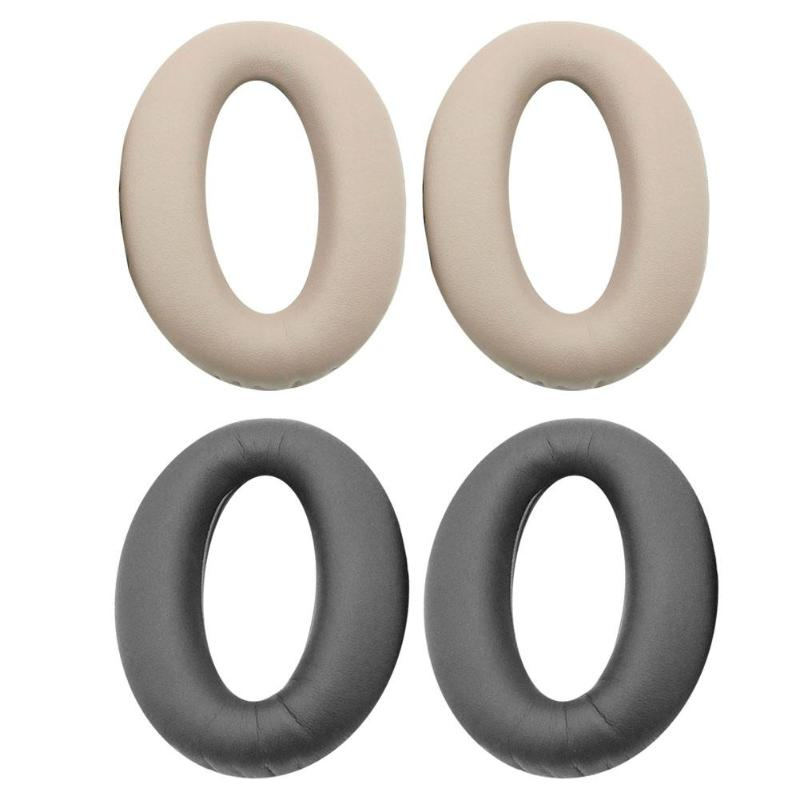 1 Pair Earpad cushion Replacement memory foam sponge leather Ear Pads for <font><b>Sony</b></font> WH1000XM2 <font><b>MDR</b></font>-<font><b>1000X</b></font> <font><b>Headphones</b></font> Headset image