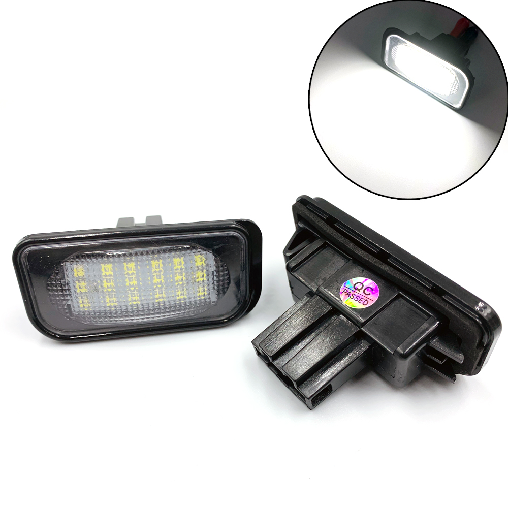 2pcs LED Licence Lights For Mercedes Benz W220 Car Number LED Lamp For Benz W220 99-05 Car License Plate Light