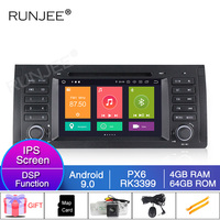 RUNJEE IPS DSP car multimedia 4G RAM Multimedia Player for BMW X5 M5 E39 E53 stereo Wifi BT video output