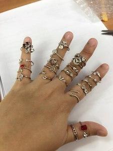 Image 3 - HOT BARATOS MISTURAR ESTILOS Conjunto Anel de Moda Acessórios Achados Jóias Acessórios Peças Montagens para Pérolas Beads Pedras, 20 pçs/lote