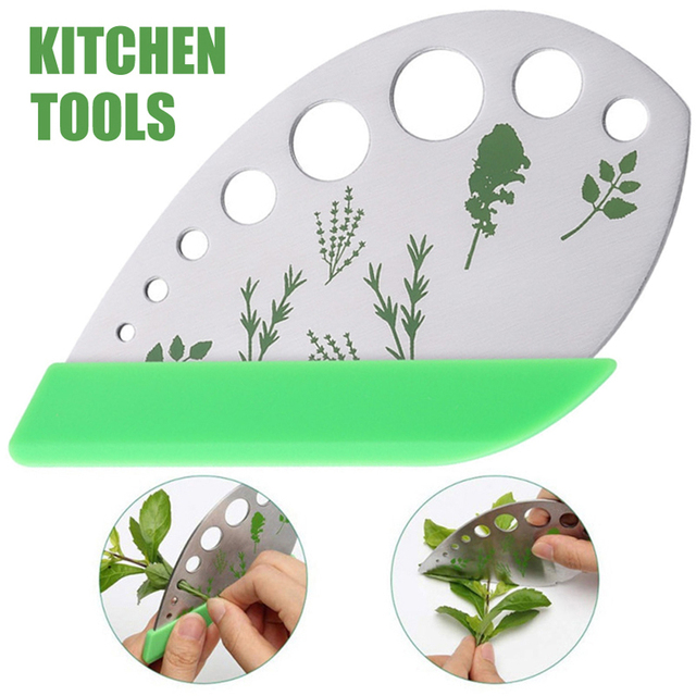 Herb Stripper 9 holes Stainless Steel Kitchen Herb Leaf Stripping Tool for Kale Chard Collard Greens Thyme Basil Rosemary  SP99