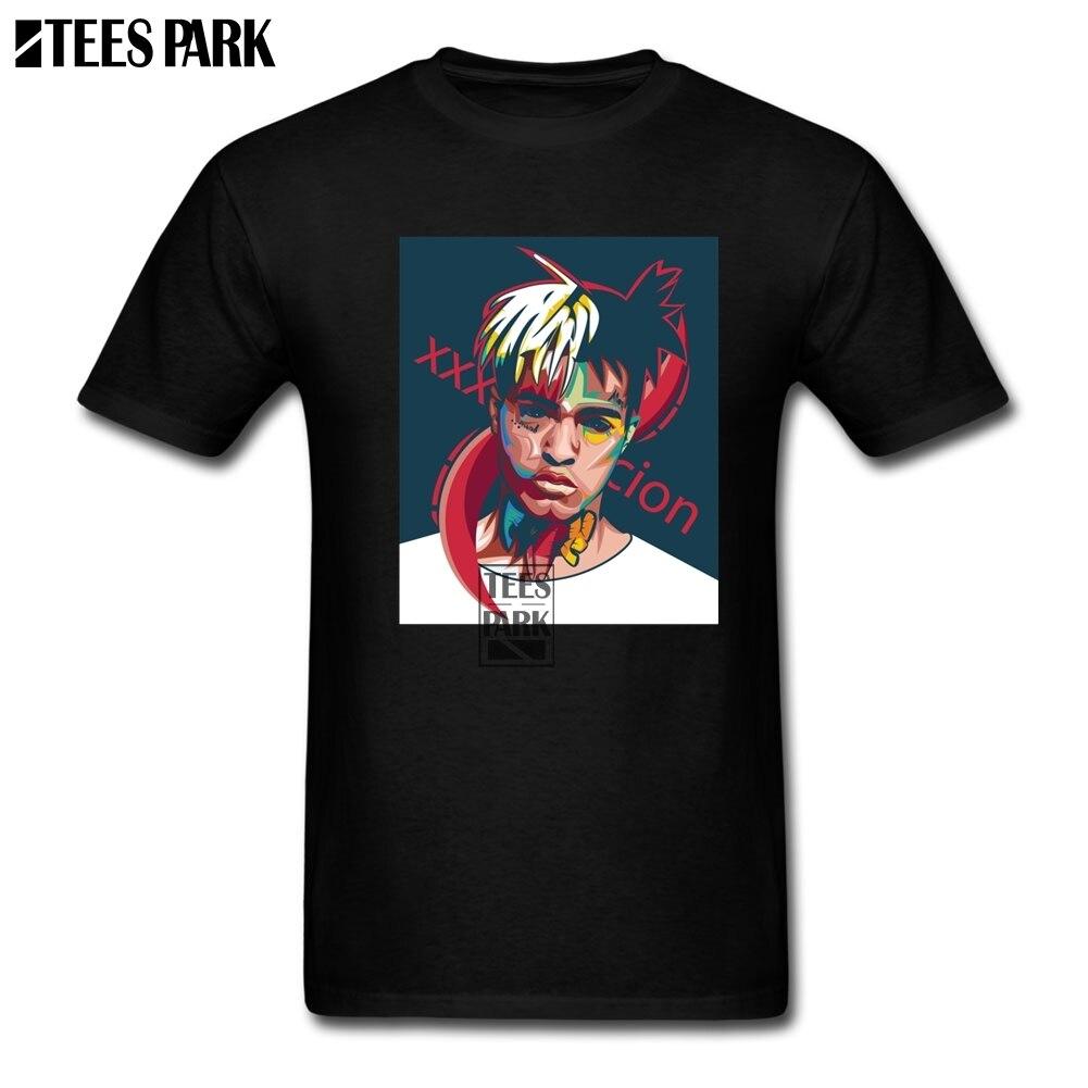 XXXTentacion Picture T Shirt For Men Rapper Hip Hop T Shirt Classic Male Junior Vintage Tee Shirts Best Rapper Fan Clothing Hot