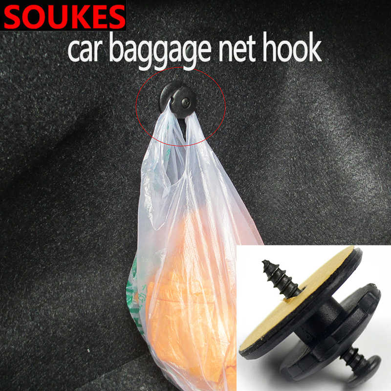 Car For Bmw E46 E90 E60 E39 E36 F30 Lada Granta Chevrolet Cruze Lacetti Lexus Trunk Luggage Storage Net Screw Hook