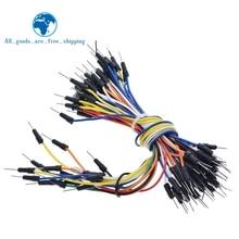 TZT 65pcs/Lot New Solderless Flexible Breadboard Jumper wires Cables Bread plate line
