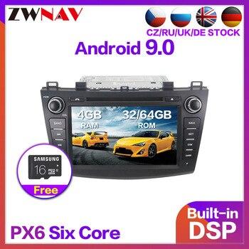 PX6 4+64 Android 9.0 Car Radio DVD Player Multimedia Stereo For Mazda 6 Mazda Atenza 2008-2012 Audio Video stereo Navi head unit