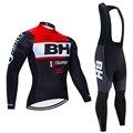 Новинка 2020, BH, мужские майки для велоспорта, с длинным рукавом, велосипедные рубашки, зимние, флисовые, для велоспорта, командная одежда, для ...