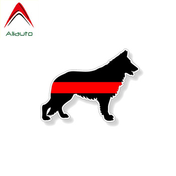 Aliauto Cover Scratch Car Sticker Animal German Shepard Fireman K9 Dog PVC Waterproof Decal for Motorcycle Opel Seat VW,12cm*9cm image