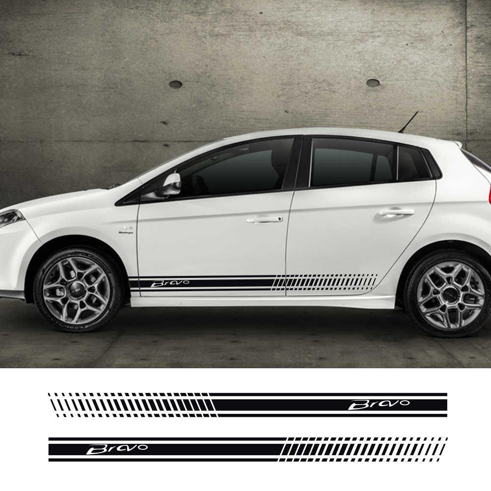 Bandes latérales voiture autocollants Auto vinyle Film décoration décalcomanies pour Fiat Bravo Automobiles bricolage sport style voiture Tuning accessoires