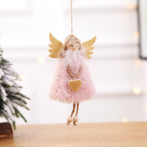 2020 New Year Latest Christmas Angel Dolls Cute Xmas Tree Ornament Noel Deco Christmas Decoration for Home 2019 Kid Gift(China)