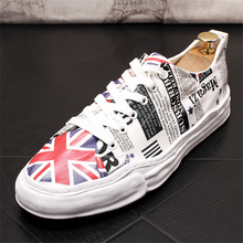 цена на Men Shoes Men Casual Shoes American flag Canvas Shoes Fashion High Quality Men Loafers Lace-up Breathable Casual Men Sneakers