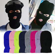 Exército tático máscara 3 buraco rosto cheio máscara de esqui inverno boné balaclava capa moto capacete da motocicleta rosto cheio capacete