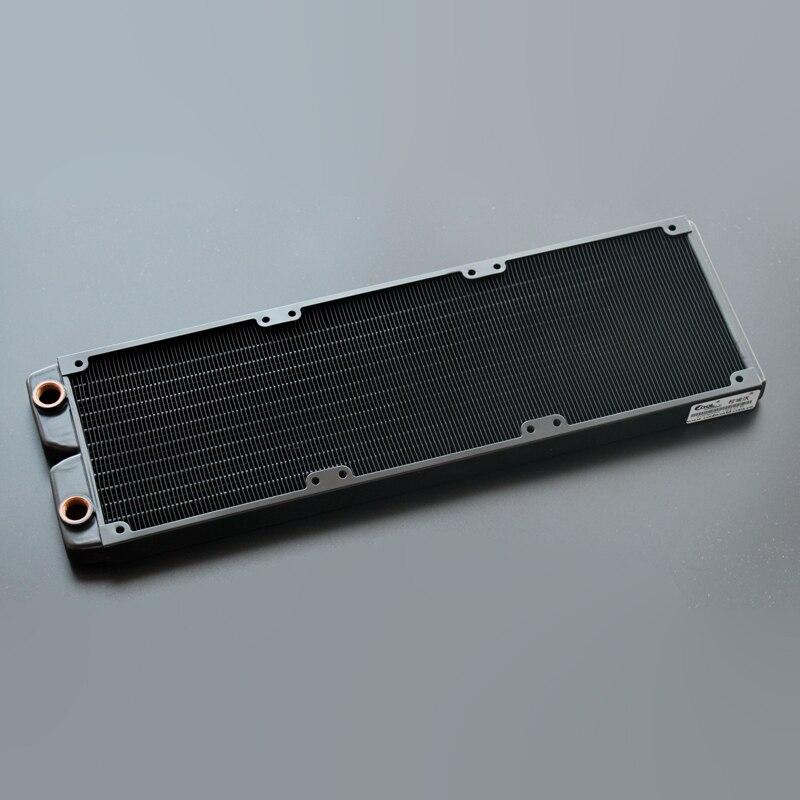 Ke Ruiwo Катюша серии 360 мм полностью красный медный радиатор водяного охлаждения подходит для вентиляторов 120 мм - Цвет лезвия: All black