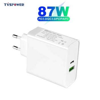 87W 20V 4.25A USB C PD Charger Adapter for Wacom MobileStudio Pro 65W for MacBook Pro Air ThinkPad/HP/ASUS/Samsung/Lenovo Laptop