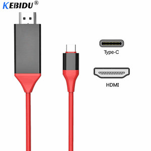 Kebidu Type C To HDMI Cable USB C To HDMI Cable Converter 2m 4K USB 3.1 30Hz HD Extend Adapter For Macbook Samsung S8 Wholesale(China)