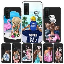 Super Mama แฟชั่น Mom Baby สำหรับ Huawei Y7 Pro 2019สำหรับ Huawei Y9 Prime Y7p Y9A Y7A Y8S y8P Y6P Y6 Pro Funda Y9ฝาครอบ